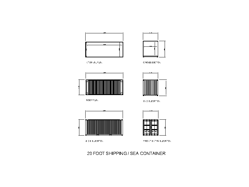 20 Foot Shipping Sea Container