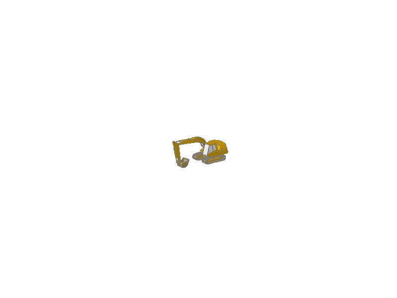 Excavator - A 3D model.