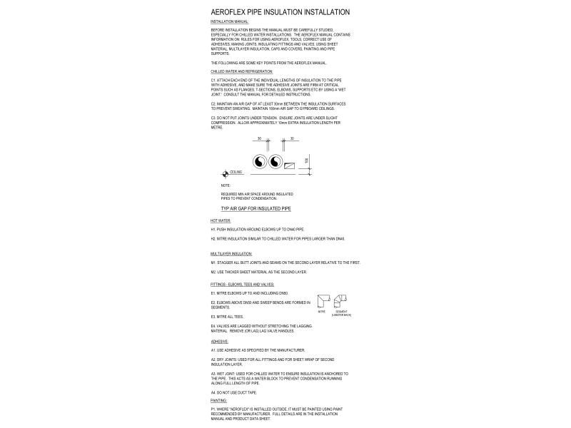 Aeroflex Pipe Insulation Installation Notes.