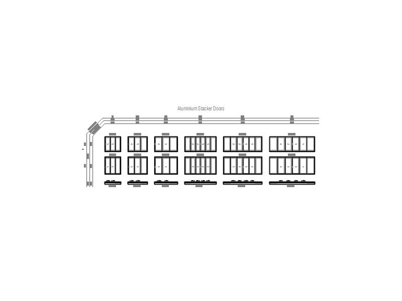 Aluminium Stacker Doors