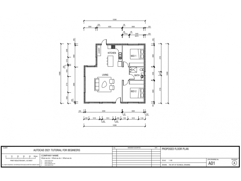 AutoCAD Tutorial - Draw A House Floor Plan