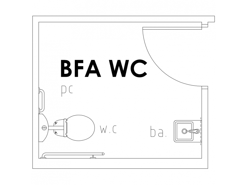 BFA WC Floor Plan