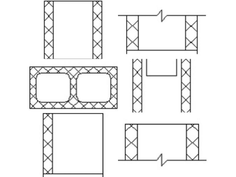 190mm wide CMU - block wall