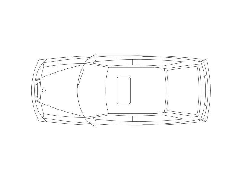 Car in Plan View - Type P1