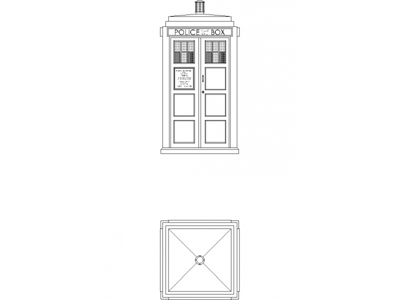 Dr Who Tardis - Police Box