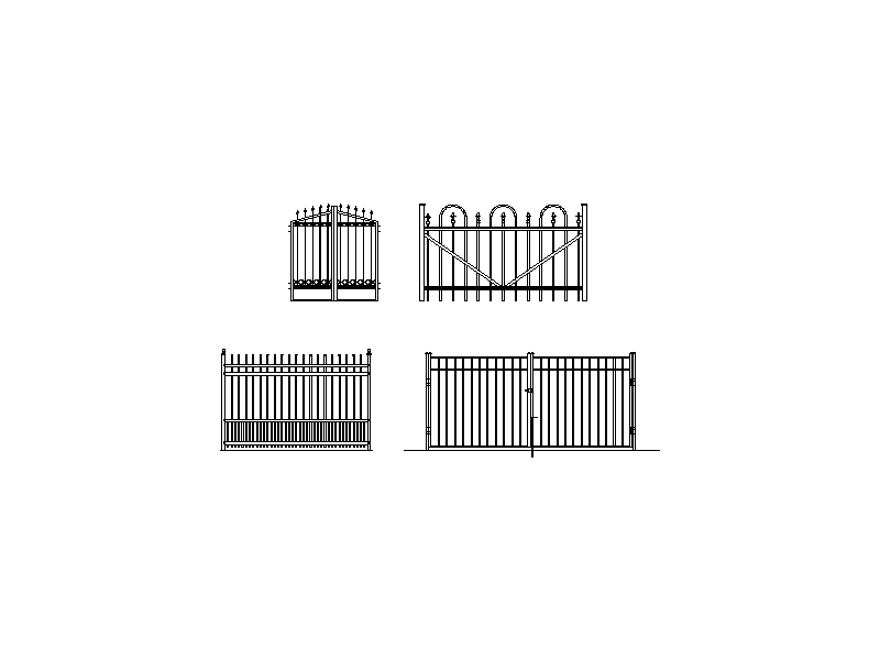 Feature Entry Gates Collection - Elevations