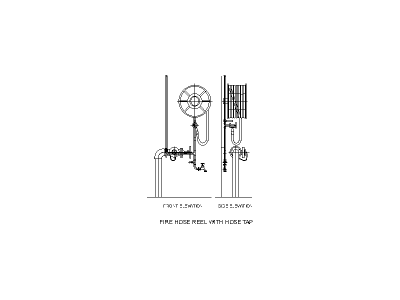 Fire Hose Reel with Hose Tap