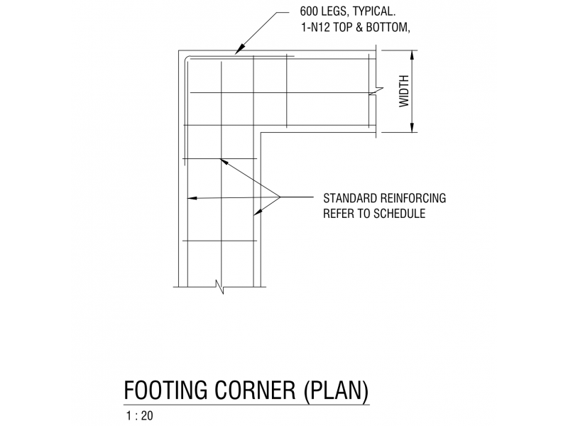 Footing Corner - Plan