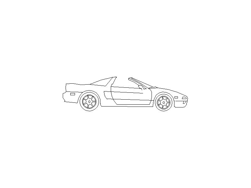 Honda NSX - Side View