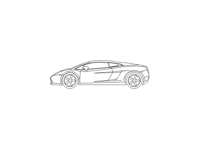 Lamborghini Gallardo - Side View