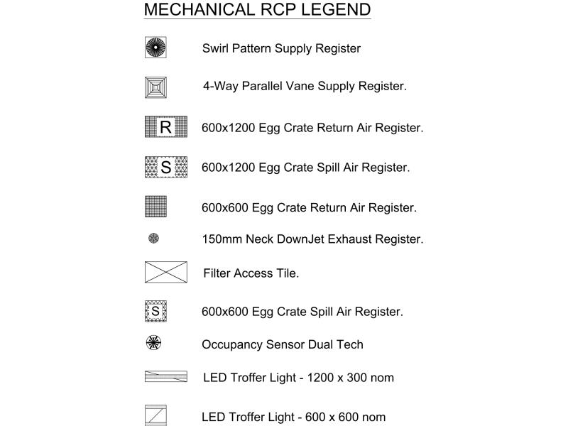Mechanical RCP Legend
