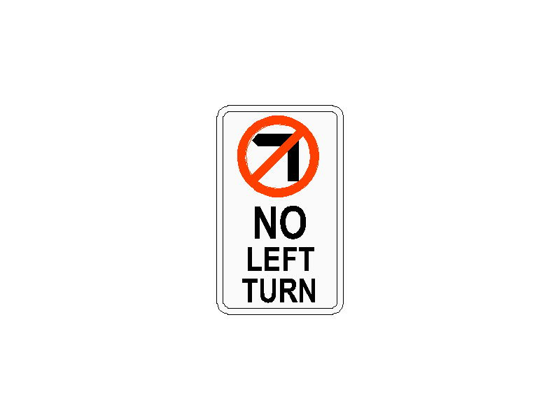 No Left Traffic Sign
