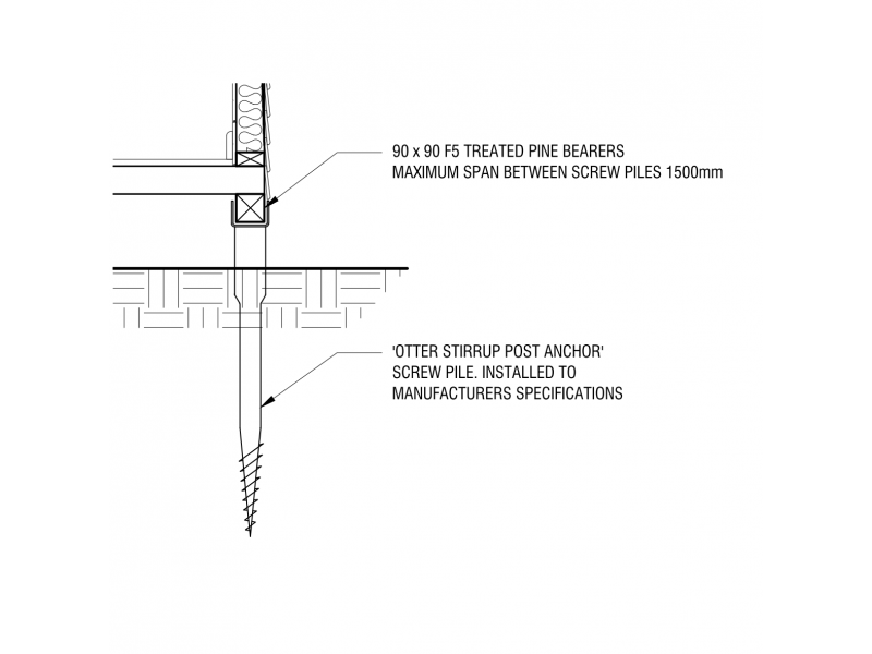 OTTER Stirrup Post Support - Screw Pile