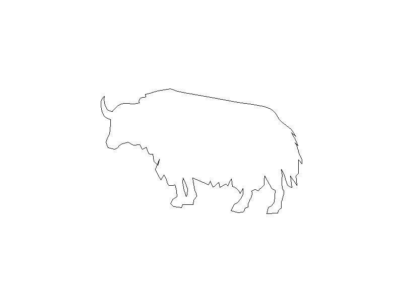 Outline of a Buffalo