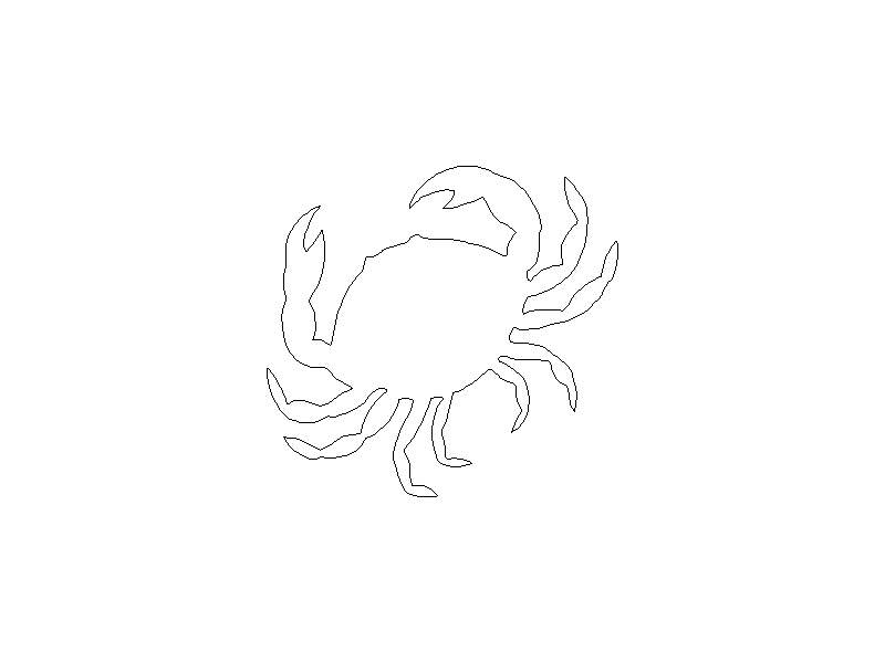 Outline of a Crab
