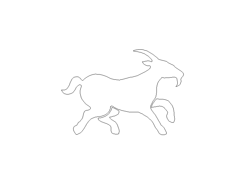 Outline of a Goat