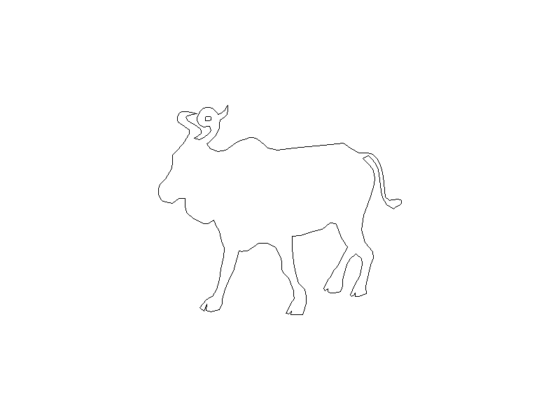 Outline of a Moose
