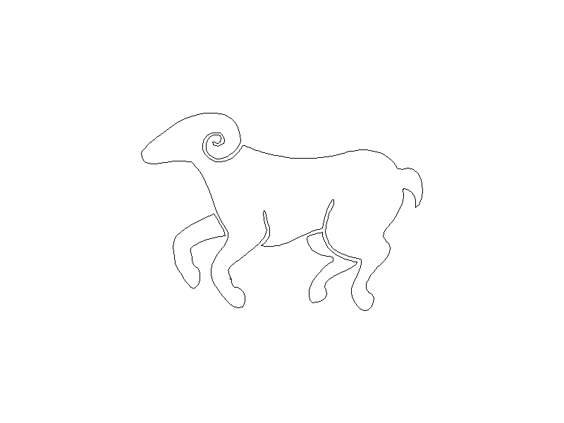 Outline of a Ram