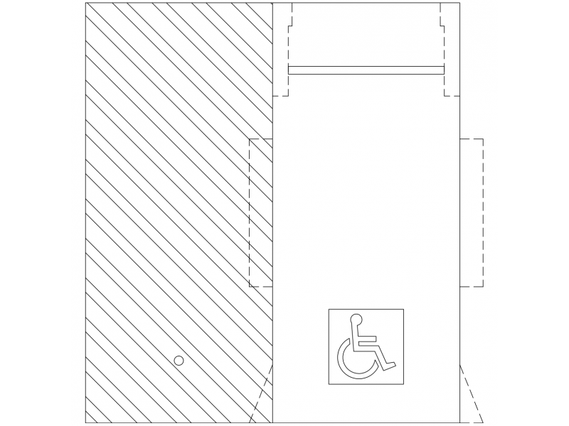Disabled Parking Space Plan – AS2890-1 – 5.4mx2.4m