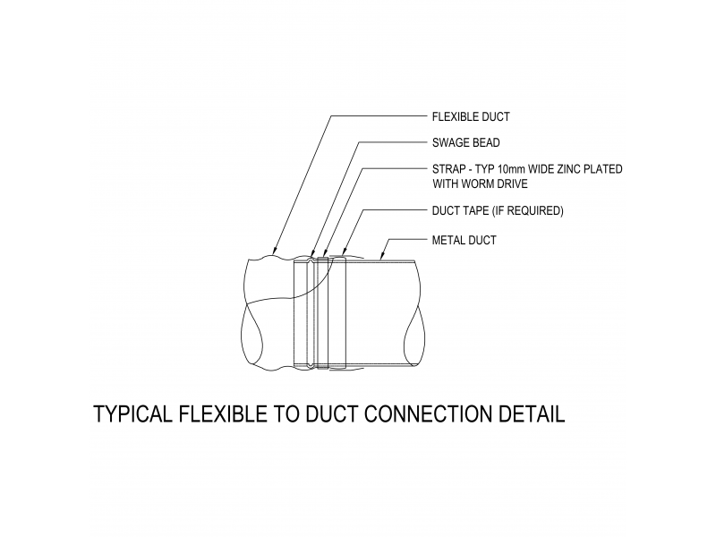 Typical Flexible To Duct Connection Details