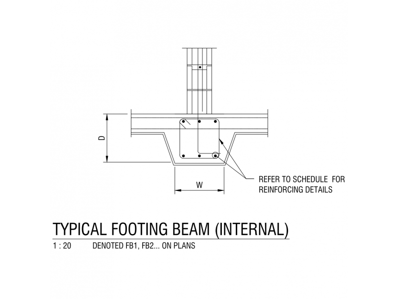 Typical Footing Beam - Internal
