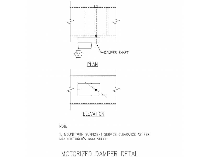Typical Motorized Damper Detail