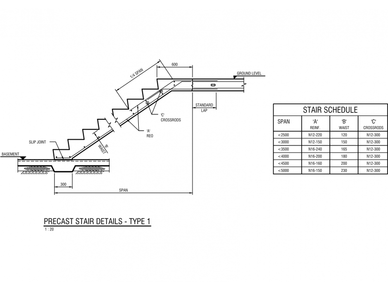 Typical Precast Stair Detail