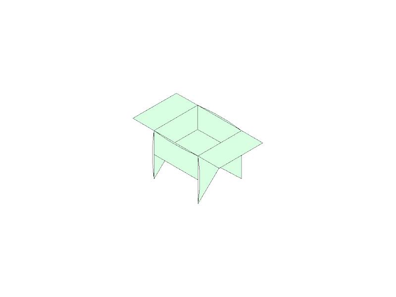 like a BBQ Box - Origami