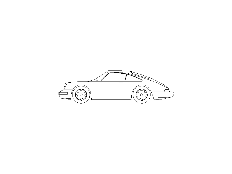 Porsche - Side Elevation